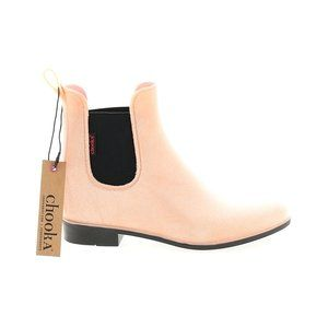 Chooka Pink Chunky Heel Ankle Boots Size 6